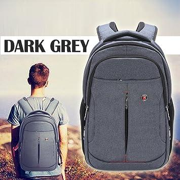 growred (TM) gris Laptop Mochilas con asa para hombre Mujer Negocios Ordenador Macbook Air Pro Retina 15 13 12 11 Universal grande bolsa de deporte: ...