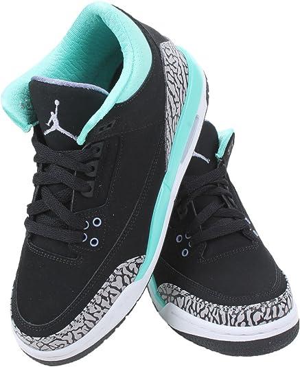 Nike Air Jordan 3 Retro GG, Zapatillas de Running para Niñas, Negro/Morado/Gris (Blk/Irn Prpl-Blchd TRQ-WLF Gry), 38 EU: Amazon.es: Zapatos y complementos