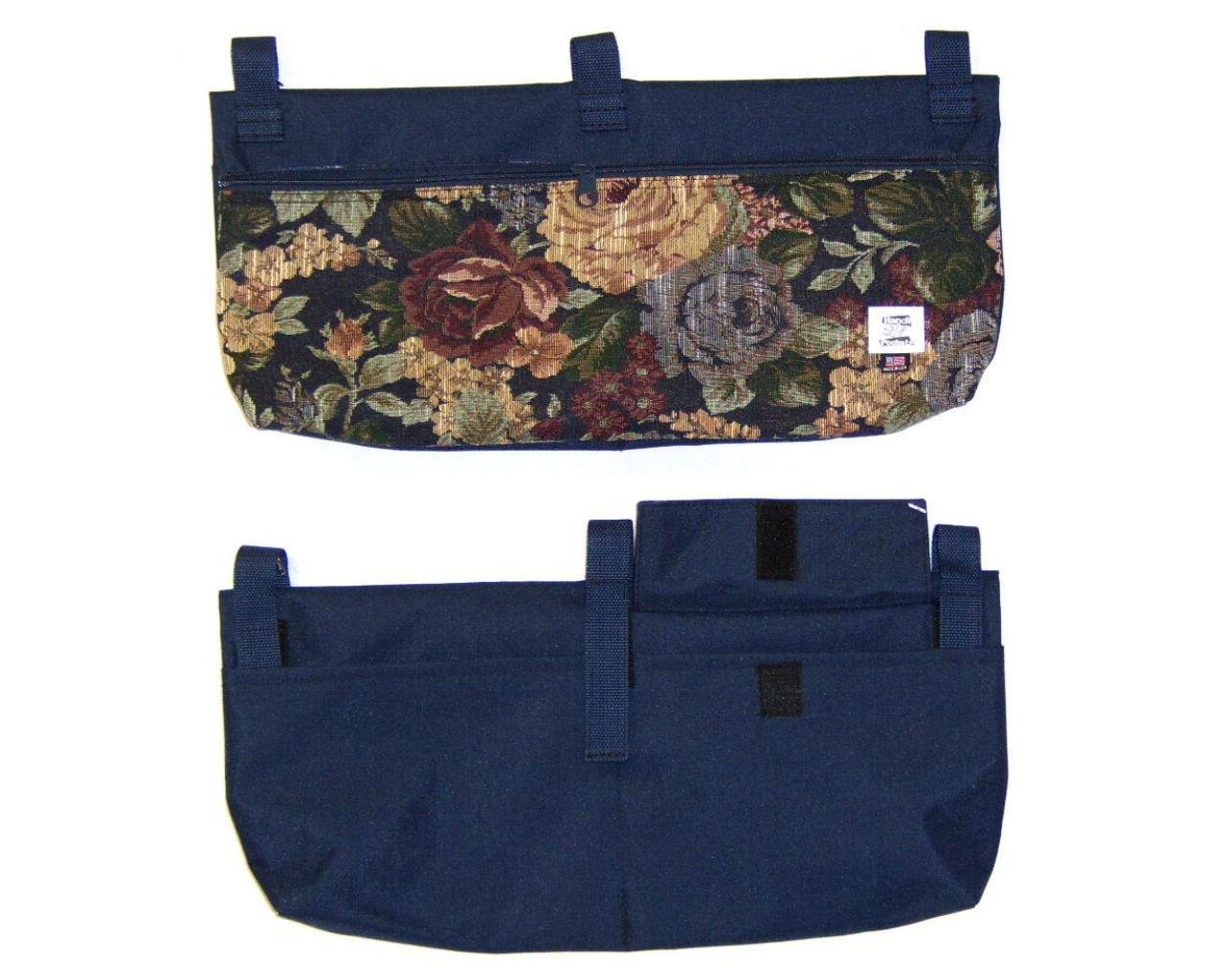 Handi Pockets 2C7WM Storage Accessory Walker, Tapestry Westmont with Zipper and Flap