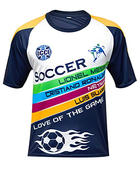huge selection of a76d3 24a57 Famz Tee Men Football Jersey Soccer T Shirt Messi Ronaldo ...