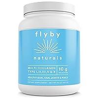 Flyby Collagen Peptides Powder (16oz - 45 Servings) – (Type I, II, III, V & X) Hydrolyzed...