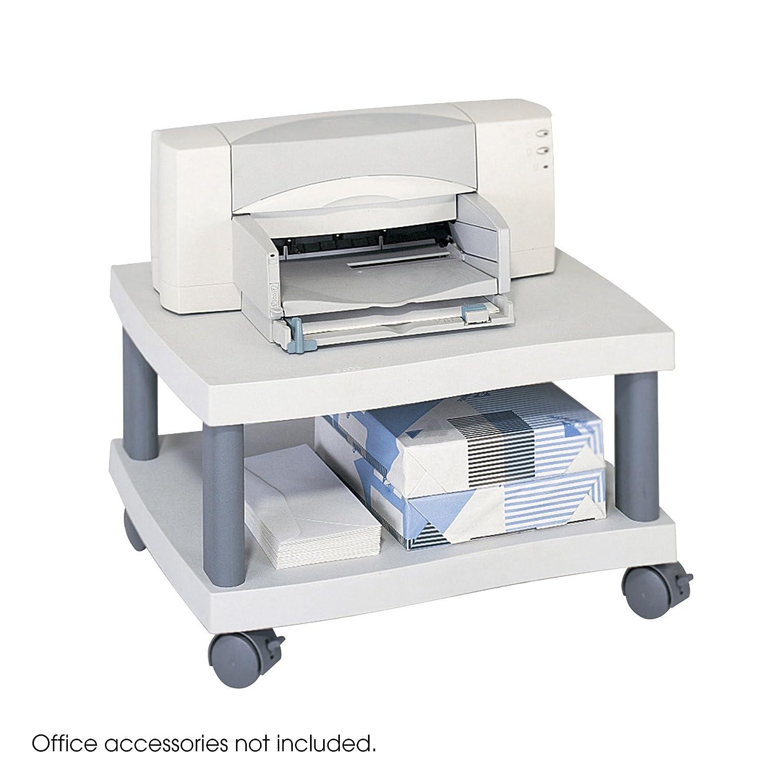 Safco - Supporto per stampante al di sotto della scrivania Wave - Grigio 1861GR
