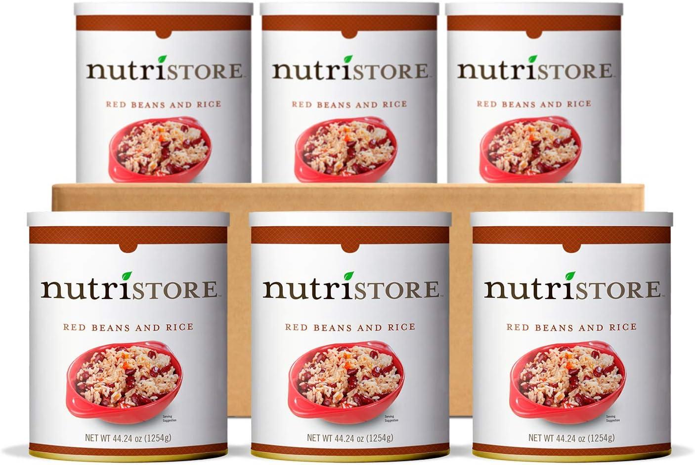 Nutristore Bulk Emergency Food Supply | Premium Freeze-Dried Variety Meals | 6-Packs | Breakfast, Lunch, Dinner | MRE | Long Term Survival Storage | 25 Year Shelf Life