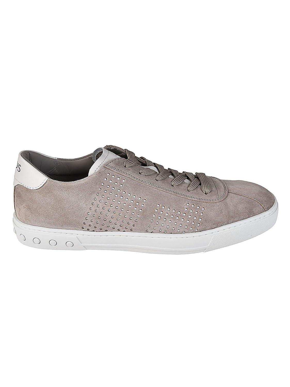 Tod's メンズ XXM0XY0X990EYD33UF グレー セーム 運動靴 B07DBS76Z4 undefined JP - Brand Size 10