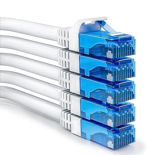 2 opinioni per deleyCON [SET 5 pezzi] 0,5m CAT6 cavo patch Gigabit LAN DSL cavo di rete-