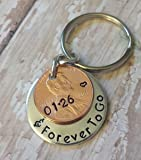 Personalized Penny Year and Forever To Go 1980 - 2017 Lucky Penny Key Chain Anniversary Date