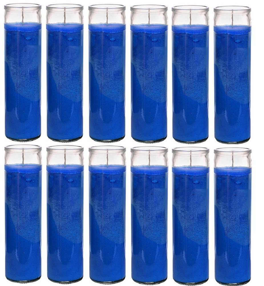 Blessed Sanctuary Series Assorted Religious Candle, Blue, Devotional, Vigil, Novena, Prayer, Saints, Candles Case of 12 (1 Cases) Ginger Wholesale