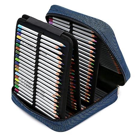 Amazon.com: BTSKY - Funda para plumas con 160 ranuras, Azul ...