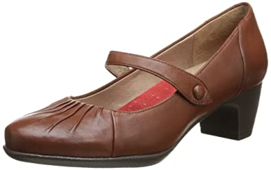 Softwalk Women's Ireland Dress Pump,Cognac,9 ...