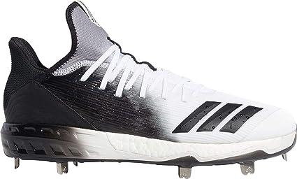 reputable site 3b809 49131 adidas Men s Icon 4 Splash Metal Baseball Cleats (Black White, 6.5 D(