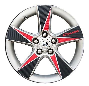 Chevrolet Cruze rueda pegatinas Refit coche para ruedas de vinilo, color negro y rojo: Amazon.es: Coche y moto