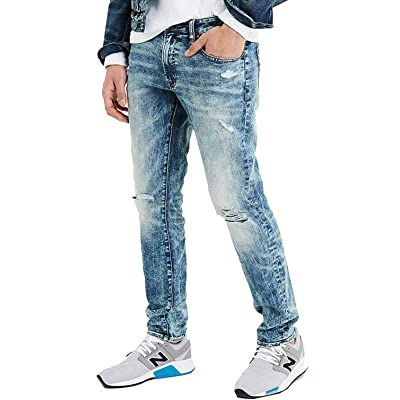 American Eagle Mens 4656919 Ne(X) t Level Slim Jean, Destroyed Medium Wash (36x30) at Men's Clothing store