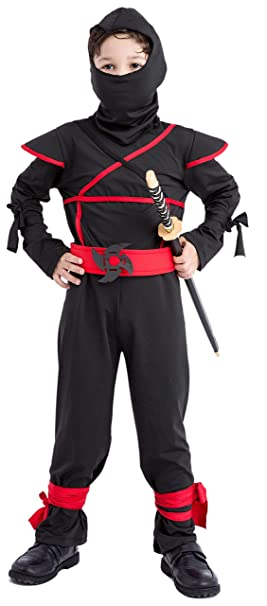 Ninja Costume Kids Ninja Costumes for Boys 4,6 6,8 8,10 7,8 Ninjago Black