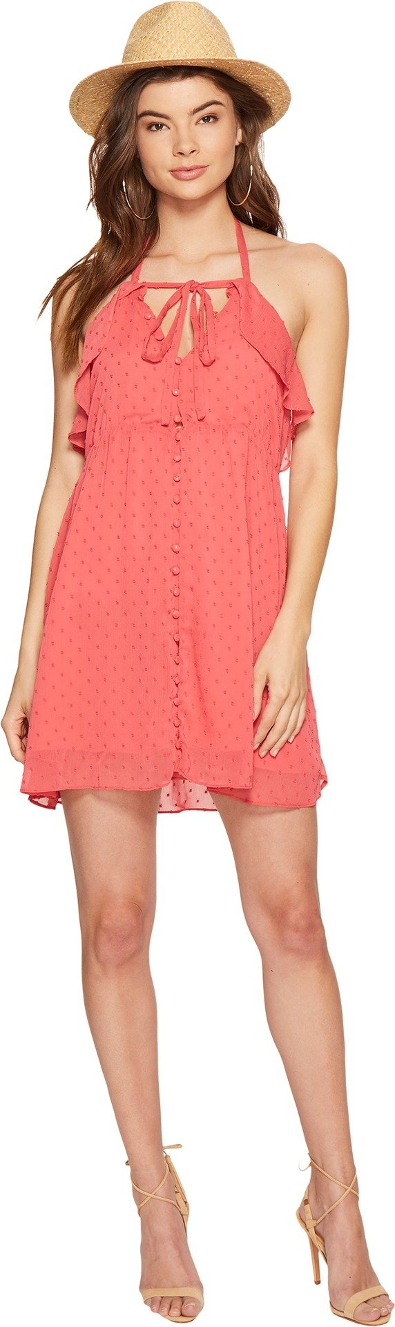 For Love & Lemons Women's Tarta Tank Dress, Flamingo, L