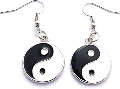 boucle d'oreille ying yang