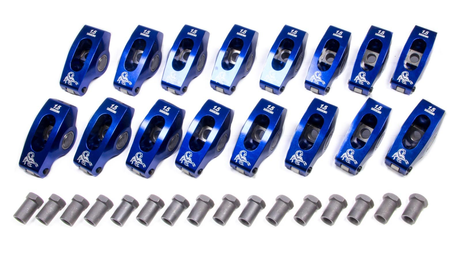 Scorpion Performance 1037 1.5 Ratio Roller Rocker Arm for Small Block Chevy - Pack of 16 by Scorpion Performance