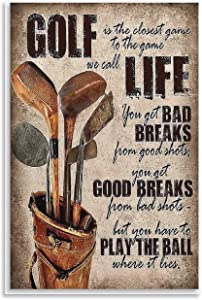 QUANHUA Vintage Art Poster Gift for Golf Lovers Picture Print Canvas Poster Wall Paint Art Posters Decor Modern Home Artworks Gift Idea 16×24inch(40×60cm)