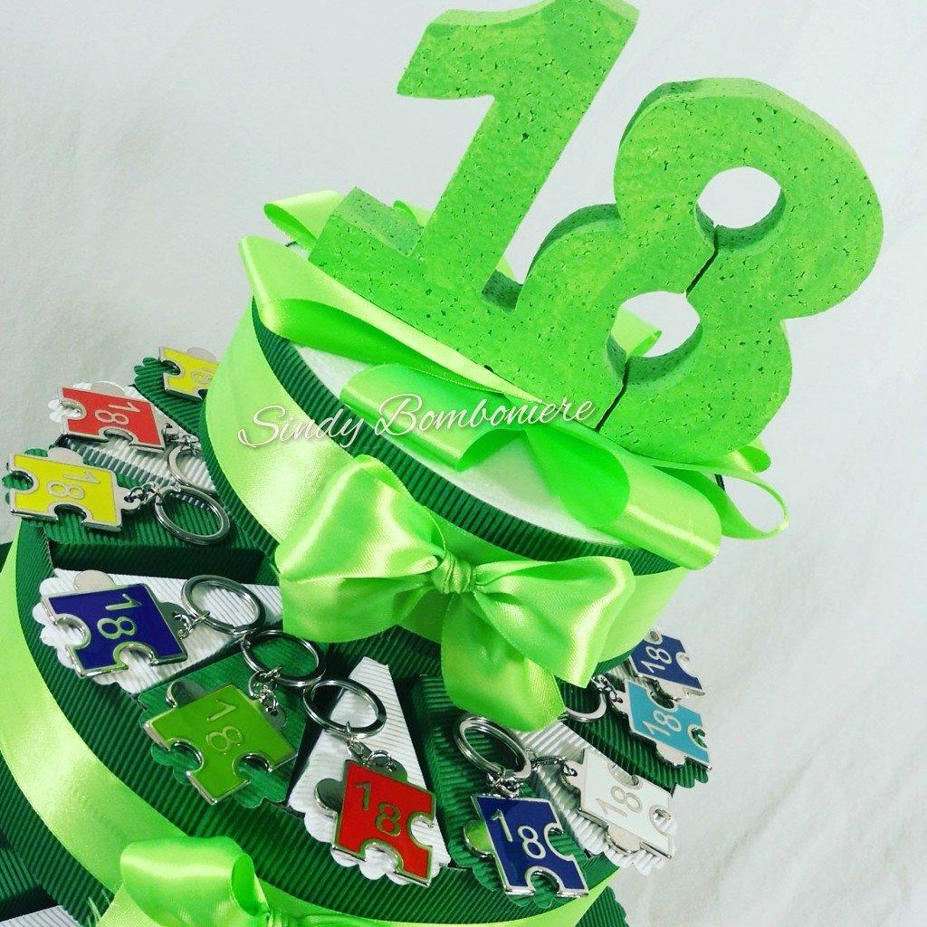 elige tu favorito Tarta BOMBONIERA para 18 cumpleaños con con con llavero 18 pieza puzzle  entrega de rayos