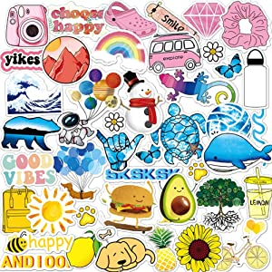 ANERZA VSCO Stickers for Hydro Flask, Vinyl Waterproof Water Bottle Stickers for Hydroflasks, Laptop, Computer, Skateboard, Cute Aesthetic Stickers for Teens, Girls, Girl Gifts, VSCO Girl Stuff(45pcs)