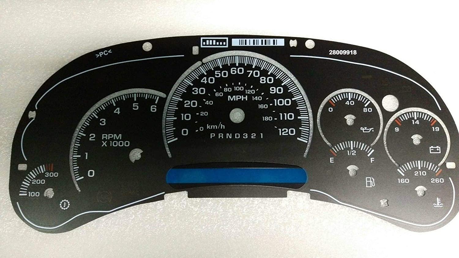7 Gauges Tanin Auto Electronix Custom Black Gauge Face Overlay 2006-2007 GMC /& Chevy Truck Instrument Cluster Speedometer