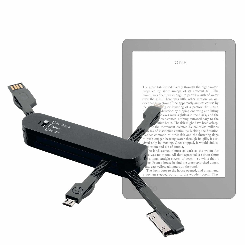DURAGADGET Multi-Cargador Negro para Libro electrónico Kobo Aura ...