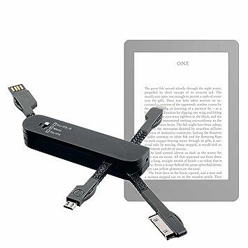 DURAGADGET Multi-Cargador Negro para Libro electrónico Kobo ...