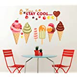 Wallstick 'Its Time to Stay Cool' Wall Sticker (Vinyl, 49 cm x 4 cm x 4 cm)