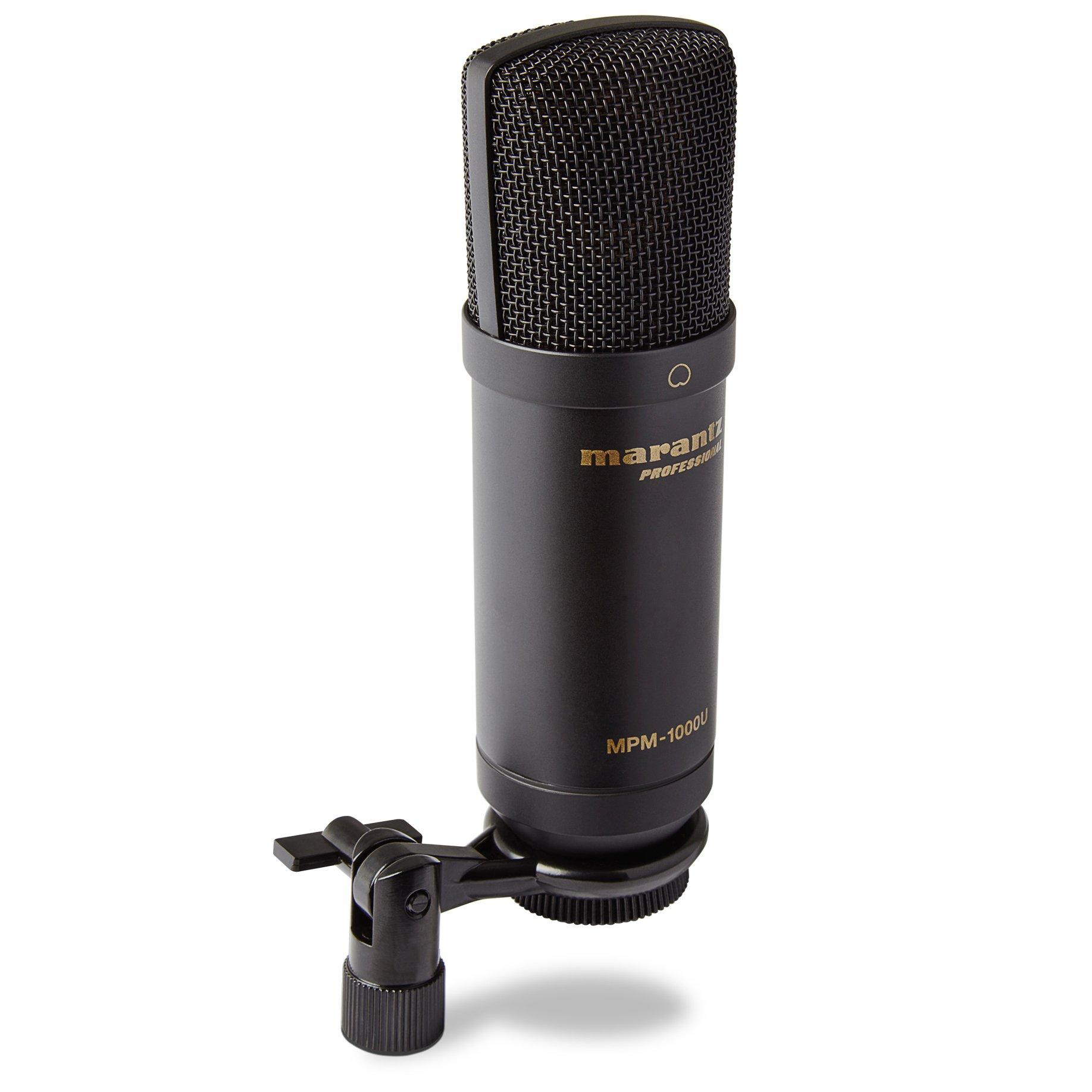 Marantz Professional MPM-1000U | Micrófono de condensador USB de diafragma grande para podcasting y grabación, incluido
