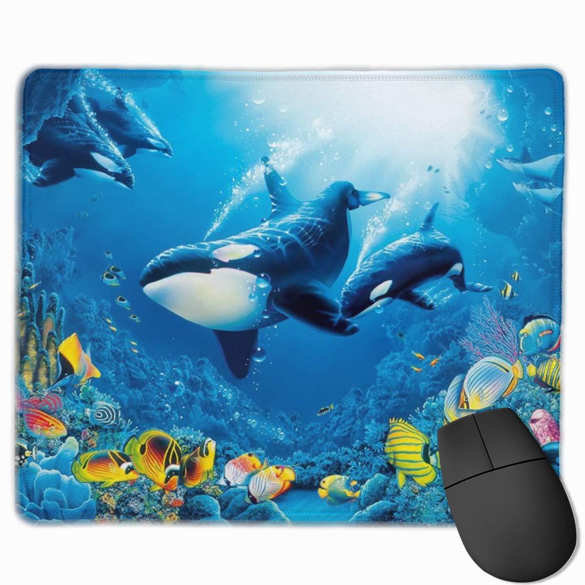 Amazon シャチオーカスオーシャン海の動物壁紙 マウスパッド 25 30