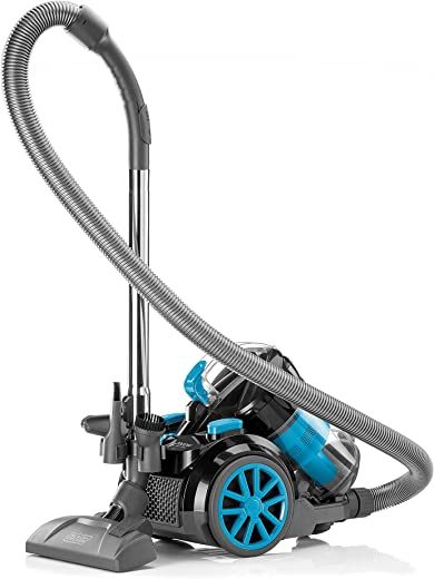 Black+Decker 1800W Bagless Cyclonic Canister Vacuum Cleaner with 6 Stage Filtration, Multi Color - VM2080-B5, 2 Years Warranty