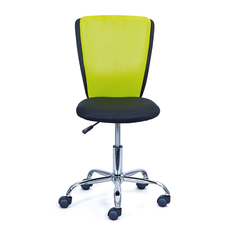 Inter Link Bürostuhl Jugenddrehstuhl Kinderdrehstuhl Schreibtischstuhl Drehstuhl Metall Bezug Mesh Schwarz und Grün