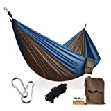 Amazon Price History for:Portable Camping Hammock [3rd Generation] Wolfyok(TM) Multifunctional Lightweight Nylon Parachute Outdoor Hammock for Backpacking, Camping, Travel, Beach, Backyard