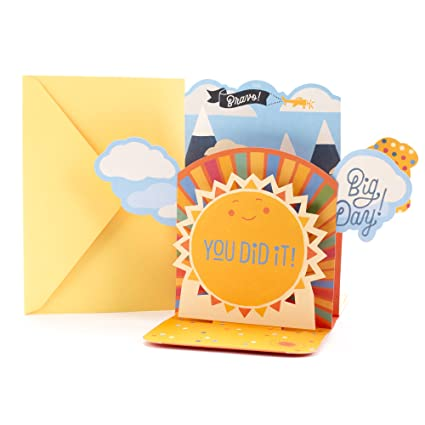 Amazon hallmark funny 3d graduation greeting card with song hallmark funny 3d graduation greeting card with song pop up orange smiling sun plays m4hsunfo