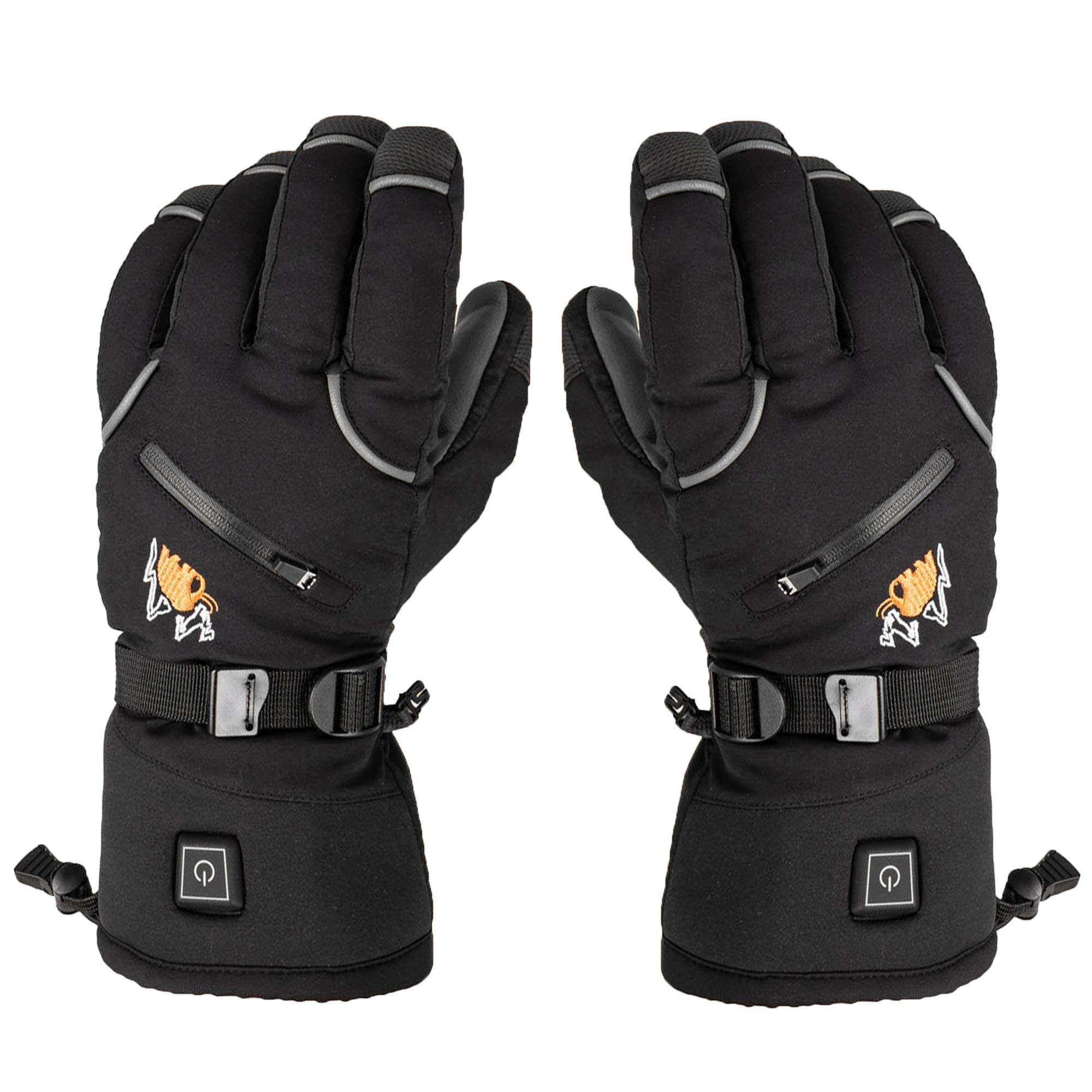 American Mammoth Heated Gloves for Men & Women - Battery Electric Heated Warm Cycling Motorcycle| Works Up to 6 Hours (Medium Mens Glove) by American Mammoth