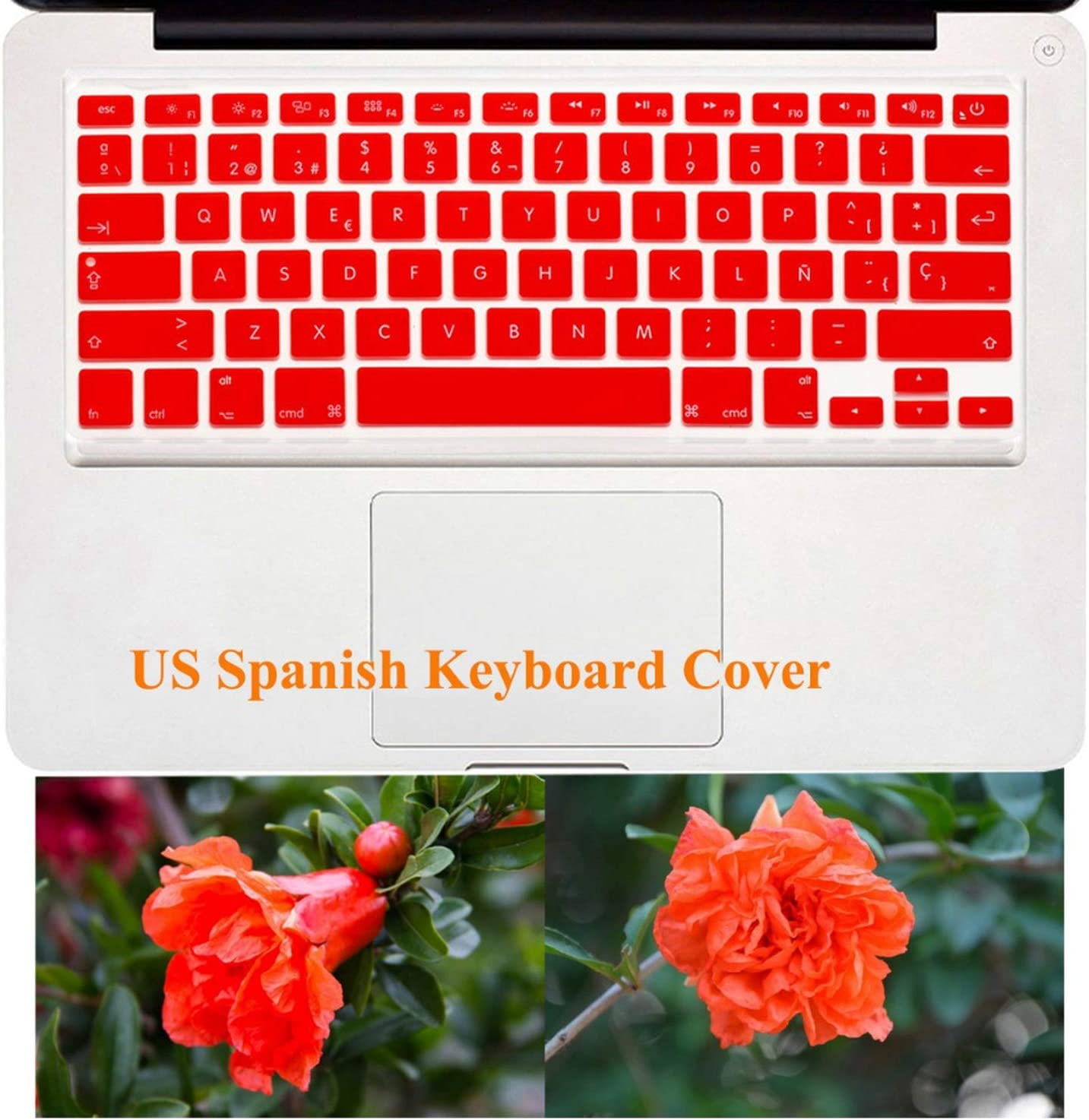 US Enter Protector Cover for MacBook Air 13 Pro Retina 13 15 17 Key Cover Spanish Layout Silicone Keyboard Stickers Skin