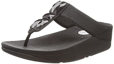 f98400751f7f8 FitFlop Womens Sweetie Toe Post Jeweled Sandal Shoes