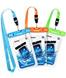 """Mpow Waterproof Case, Universal Dry Bag Waterproof Phone Bag Pouch for Devices up to 6.0"""" 3-Pack"""