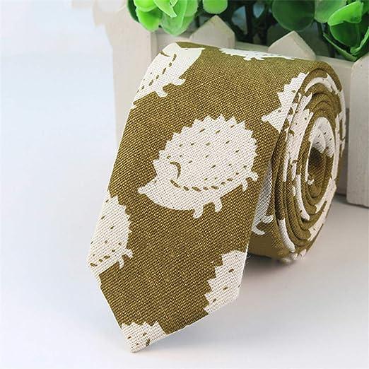 Hengxingwf Corbata de algodón con Estampado de Dibujos Animados ...