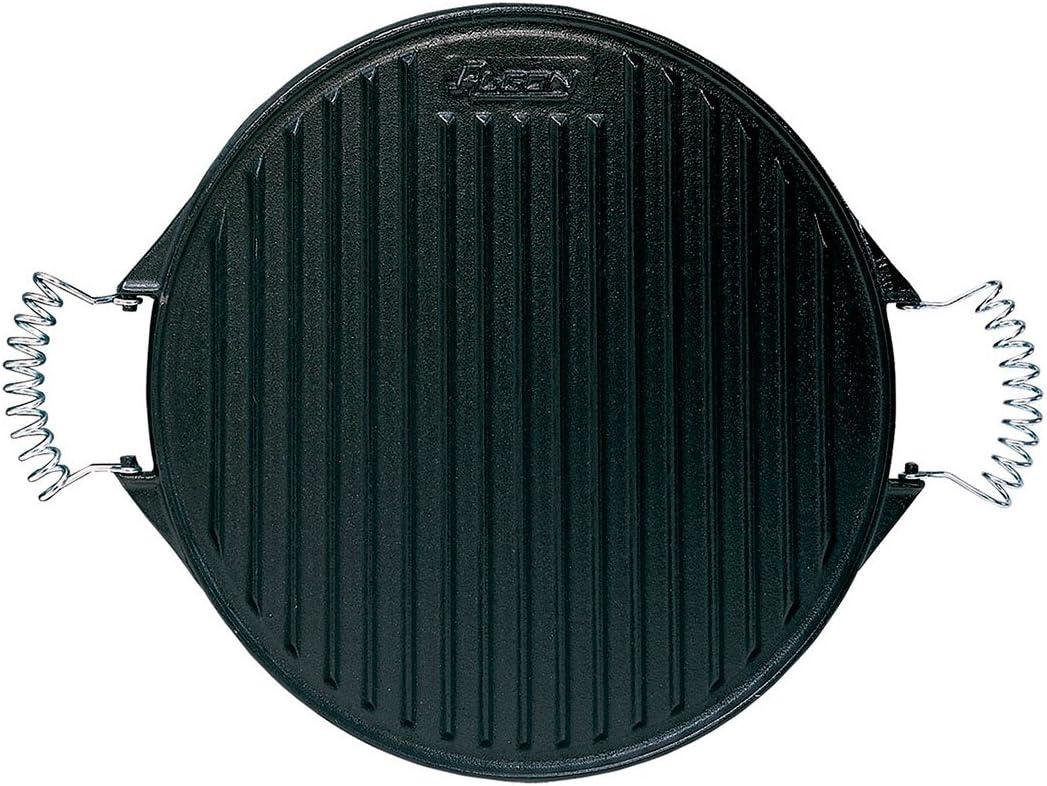 Algon AH110 Plancha de Cocina, 32 cm de diámetro, Inoxidable con Doble Cara, Hierro