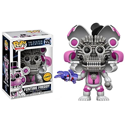 Five Nights at Freddy's Sister Location Funtime Freddy Pop! Vinyl Figure Chase Variant and (Bundled with Pop BOX PROTECTOR CASE): Toys & Games