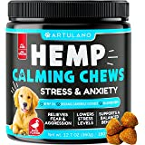 Hemp Calming Treats for Dogs - Made in Usa - 180 Soft Dog Calming Treats - Aids Stress, Anxiety, Storms, Barking, Separation