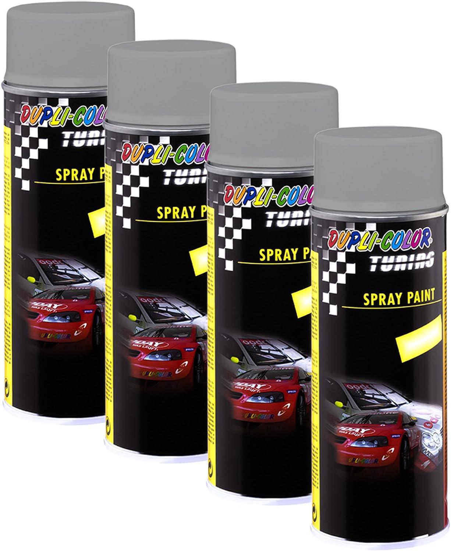 4x Dupli Color Tuning Spray Paint Ral 9006 Seidenmatt Dekor Lackausbesserung Auto