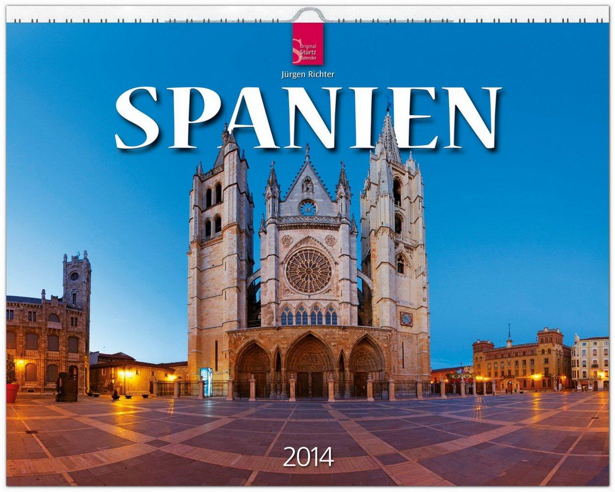 Spanien 2014: Original Stürtz-Kalender - Großformat-Kalender 60 x 48 cm [Spiralbindung]
