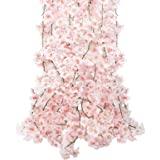 CEWOR 4 guirnaldas artificiales de flores de cerezo para colgar en bodas, fiestas, decoración del hogar, japonesas kawaii