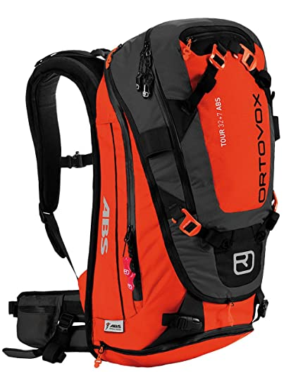 0a81a893383 Amazon.com : Ortovox Tour 32+7 ABS Avalanche Survival Bag Complete System  with MASS airbag and Activation Unit S/M(Crazy Orange) : Sports & Outdoors