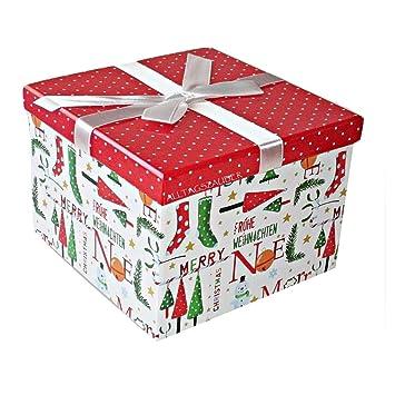 Geschenkkarton Weihnachten.Geschenkkarton Weihnachten Geschenk Karton Schachtel Mit