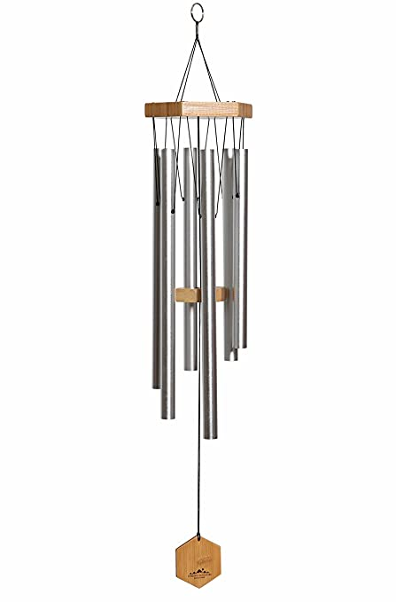 WIND CHIMES FOR PEOPLE WHO LIKE THEIR NEIGHBORS, Soothing Melodic Tones &  Solidly Constructed Bamboo/Aluminum Chime, Great as a Quality Gift or to