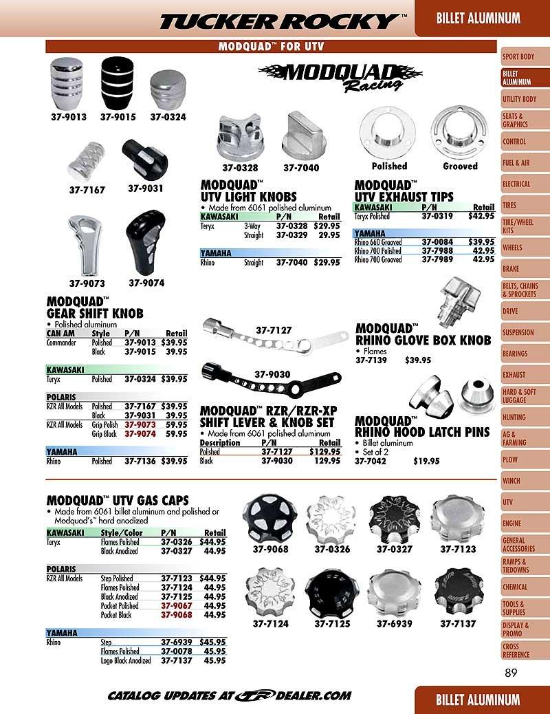ModQuad Gear Shift Knob Grip Black RZR-GRIP-BLK