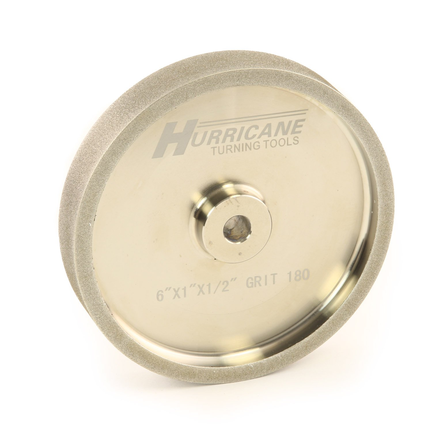 Hurricane 6'' CBN Grinding Wheel, 180 Grit, 1.0'' Wide, 1/2'' Bore, for Sharpening High Speed Steel Tools