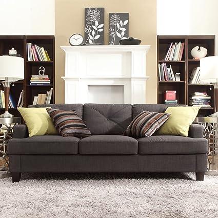 Amazon.com: Chelsea Lane Tufted sofá tapizado – Dark ...